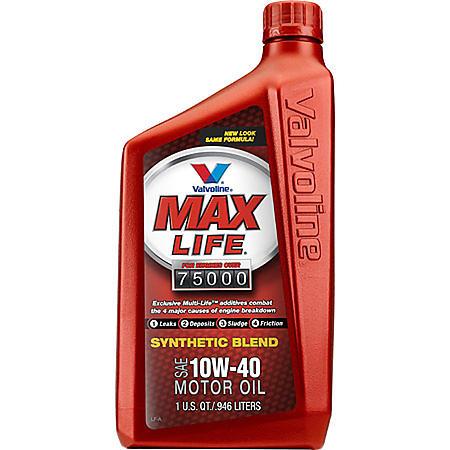 Valvoline valvoline maxlife 10w40 4l for Valvoline motor oil certification